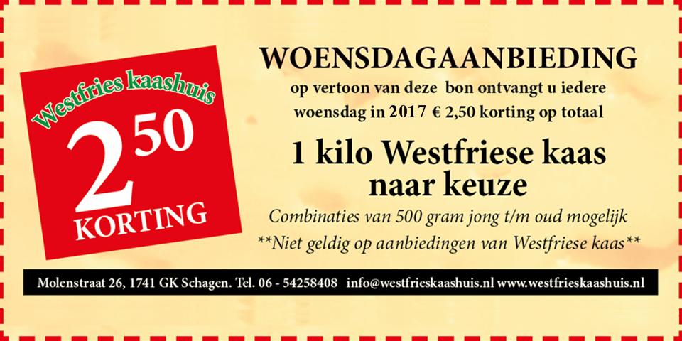 Woensdagaanbieding 2017 Westfriese kaas | Westfries kaashuis
